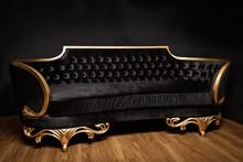 Big Black And Gold Sofa