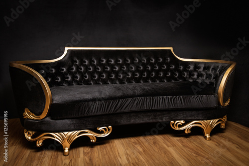 Astounding Big Black And Gold Sofa Buy This Stock Photo And Explore Pabps2019 Chair Design Images Pabps2019Com