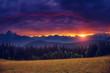 Majestic colorful sunset