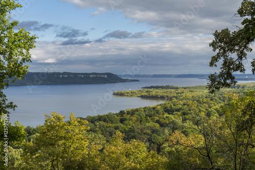 Printed kitchen splashbacks River Lake Pepin & Mississippi River Scenic View