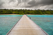 landscape with a pontoon in Maldives