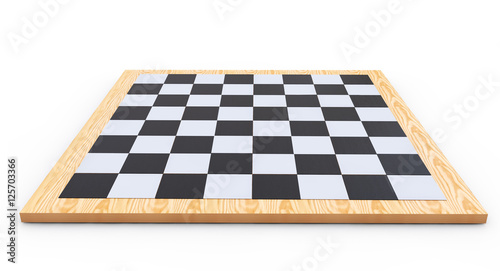 Fényképezés chess board on a white background 3d render