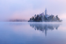 Misty Morning In Lake Bled
