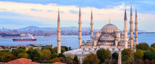 Blue Mosque And Bosporus Panor...