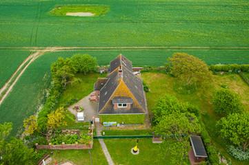 Leuchtturmwärterhaus in Flügge auf der Insel Fehmarn