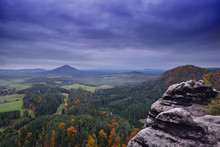 Beautiful Autumn Landscape Of Bohemian Switzerland