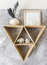 Triangle Shelf With Paper Anim...