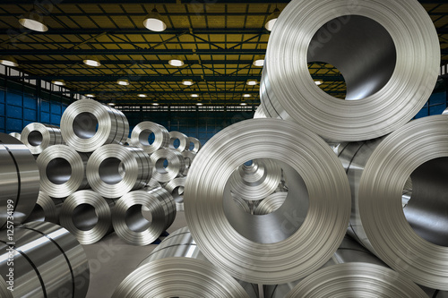 roll of steel sheet in factory Tapéta, Fotótapéta