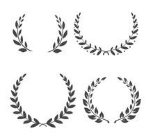 Vector Laurel Wreaths. Winner ...