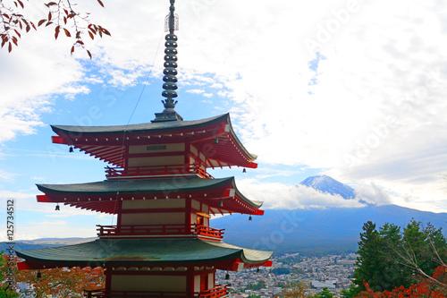 Poster Kyoto Mt. Fuji and the Chureito Pagoda, Japan