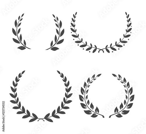 Fototapeta Vector Laurel wreaths. Winner leaf of Glogy. Vector Laurel wreaths. Winner leaf of Glogy. Vector Laurel wreaths. Winner leaf of Glogy. Vector Laurel wreaths. Winner leaf. Glogy. Vector Laurel wreaths obraz