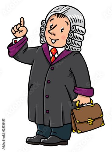 Fotografija  Funny judge understand thumbs up