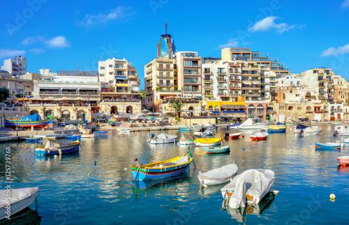 Fototapeta St. Julians bay. Malta obraz