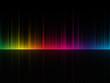 canvas print picture - dark color spectrum background