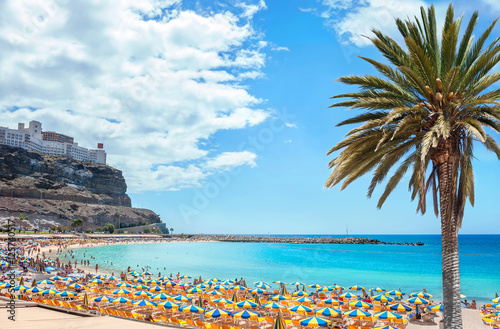 Printed kitchen splashbacks Canary Islands Amadores beach. Gran Canaria, Canary islands, Spain