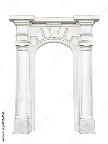 stone arch isolated on white background Wallpaper Mural
