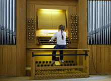 Modern Pipe Organ In Renovated...