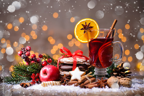 Christmas mulled wine Fototapeta
