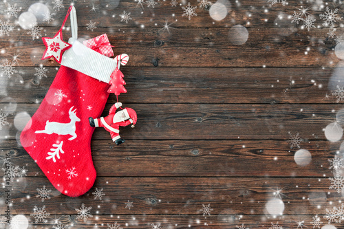 Photographie  Christmas decoration stocking