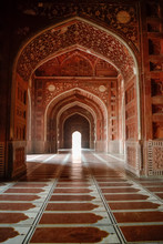 Inside Of Mosque In Taj Mahal ...