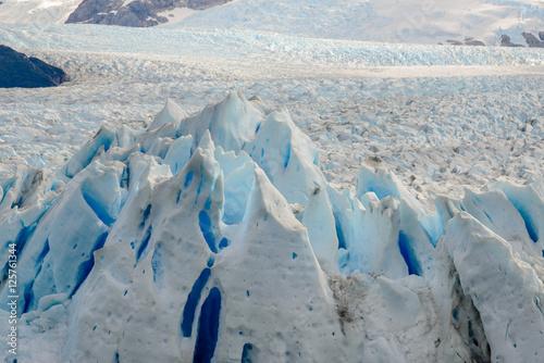 Plakat Szczegół Perito Moreno lodowiec w Los Glaciares parku narodowym, Argentyna