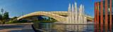 Fototapeta Miasto - Katowice - NOSPR i fontanna