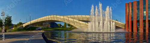 Katowice - NOSPR i fontanna