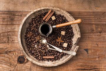 caffè turco composizione