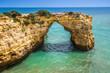 Praia de Albandeira - beautiful coast and beach of Algarve, Port