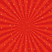 赤 放射状 金銀ちりばめた和風背景