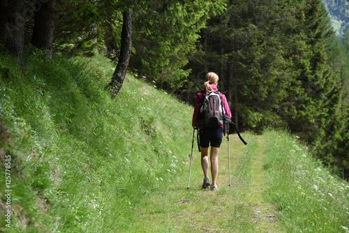 Acrylic Prints Horseback riding escursione gita in montagna camminare camminata benessere