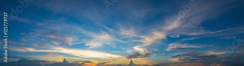 sunset sky, clouds landscape, dramatic sunset and sunrise sky. Canvas-taulu