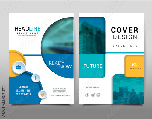 Geometric Shapes On Background Brochure Template Layout Cover