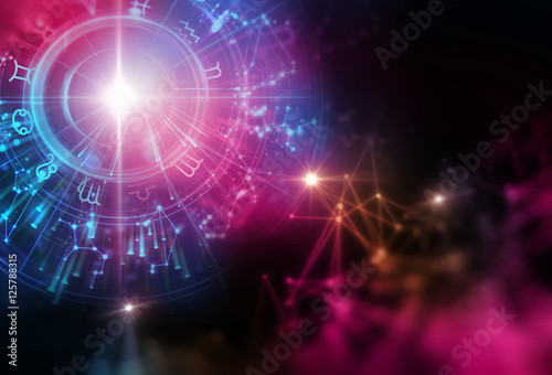 Astrology and alchemy sign background illustration Wallpaper Mural