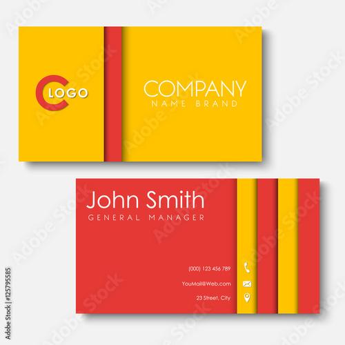 Fototapeta Business cards templates in the style of the material design obraz na płótnie