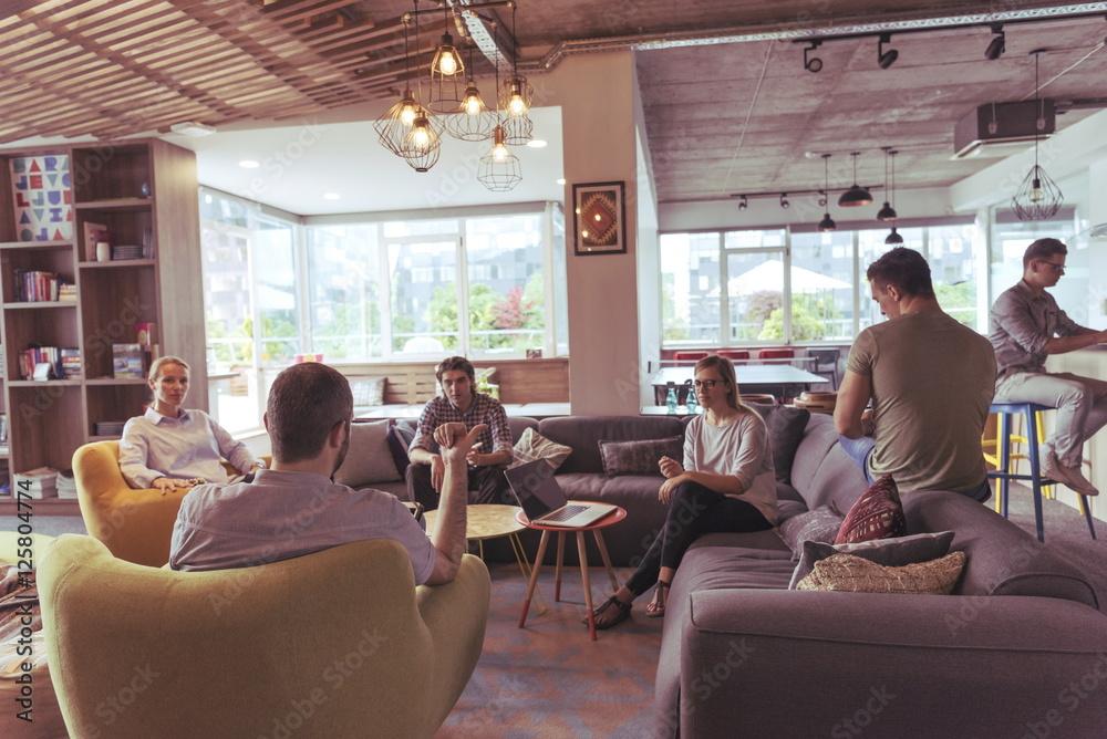 Fototapeta team meeting and brainstorming
