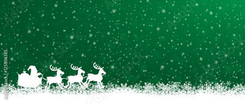Foto-Doppelrollo - Weihnachtsschlitten - Grün (von ii-graphics)