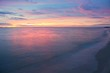 Sunrise and beach. Morning at sea beautiful, Sky colorful and water sea at reflex.