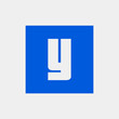 Letter Y vector, logo. Useful as branding symbol, identity, alphabet element, square app icon, clip art and illustration.