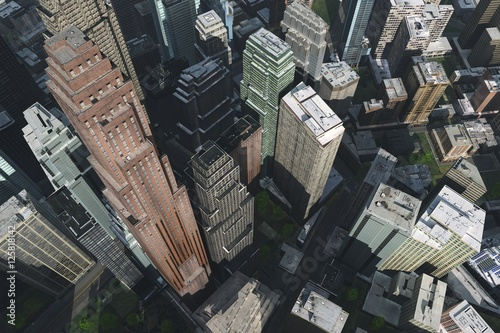 Photo  aerial view of the city, a city with a bird's-eye view.