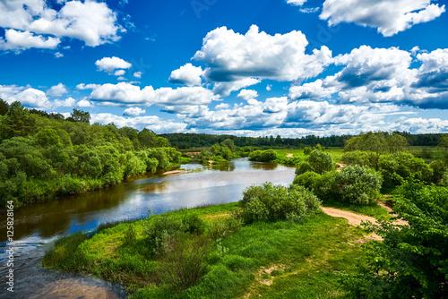 Foto auf Gartenposter Fluss Summer river landscape