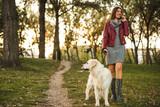 Fototapeta Zwierzęta - Going for a walk