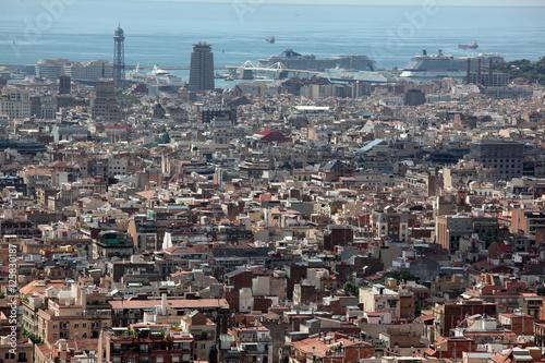 Aerial View Barcelona Spain Kaufen Sie Dieses Foto Und Finden Sie
