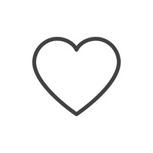 Heart Outline Icon Vector Isol...
