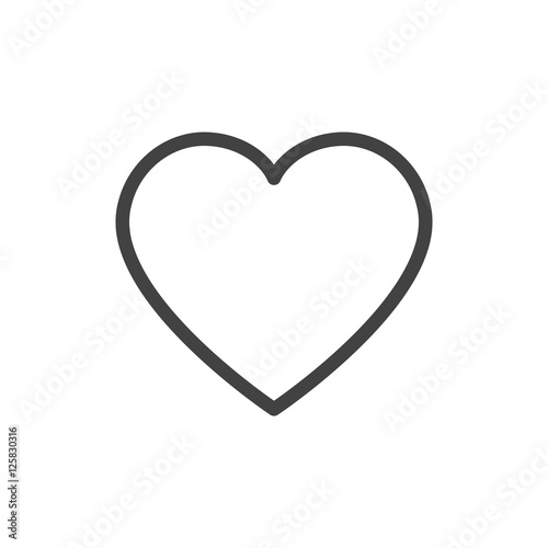 Fotografie, Obraz  Heart outline icon vector isolated
