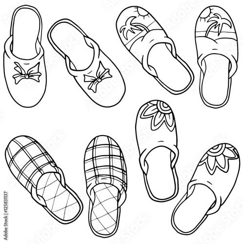 Foto auf AluDibond Klassische Abstraktion slippers decorated