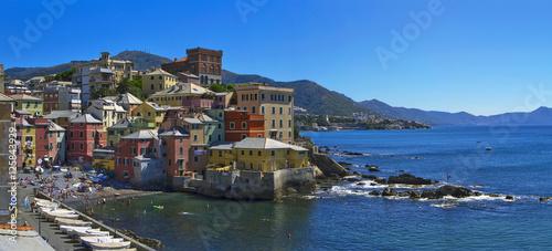 Fotografia  genova boccadasse sul mare liguria italia europa italy europe