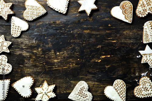 Fototapeta Christmas biscuits, gingerbread obraz