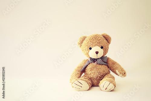 Fotografie, Obraz  Teddy Bear sitting Background