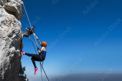 Extreme Rocky Climbing Canvas Print